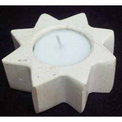 Chandelier forme d'étoile en marbre blanc  7.5 X 2.5 cm