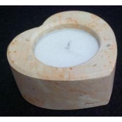 Chandelier en marbre forme de coeur 6 X 6 X 2.5 cm