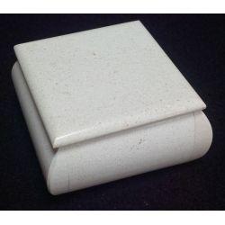Grande Boite à bijoux en marbre blanc 10 X 10 4.5 cm