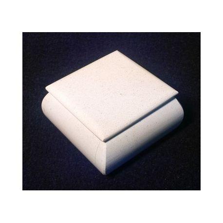 Boite à bijoux Moyenne en marbre blanc 9 X 9 X 4.5 cm