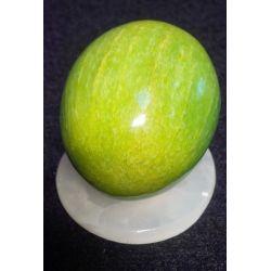 Oeuf en pierre d'onyx teinté 5 X 4 X 5 cm