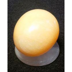 Oeuf en pierre d'onyx teinte naturelle 5 X 4 X 5 cm