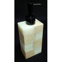 Distributeurs de crème en onyx blanc et marbre blanc  13 x 7 x 5 cm