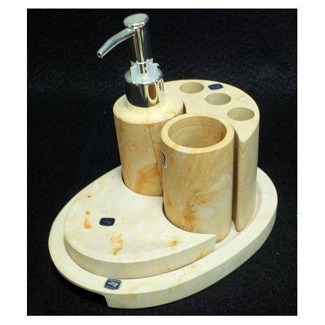 Assortiment salle de bain en marbre 5 éléments