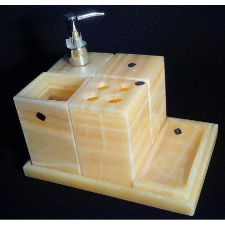 Assortiment salle de bain en marbre 6 éléments