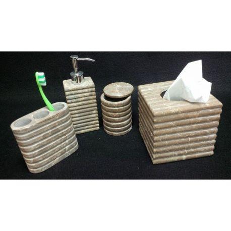 Assortiment salle de bain en marbre 4 éléments