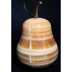 Décoration Poire en pierre d'onyx 13 X 10 cm
