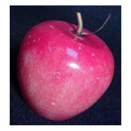 Pomme décorative en onyx coloré rouge 7 X 6.5 cm
