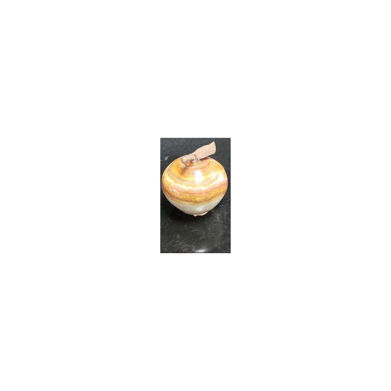 pomme d corative en onyx naturel brun clair 4 x 3 5 cm mexicarte. Black Bedroom Furniture Sets. Home Design Ideas