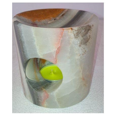 Brûle parfum en pierre d'onix