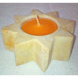 Chandelier forme d'étoile en marbre brun  7.5 X 2.5 cm