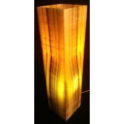 DECORATION INTERIEUR ONYX JAUNE : Lampadaire cubique onyx  60X15X15 cm