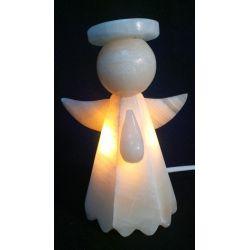 Luminaire Chambre d'Enfant en forme d'Ange en Onyx Blanc 16 X10 cm