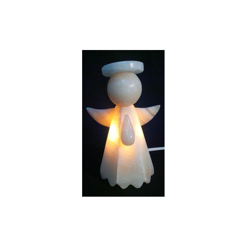 luminaire chambre d 39 enfant en forme d 39 ange en onyx blanc 16 x10 cm mexicarte. Black Bedroom Furniture Sets. Home Design Ideas