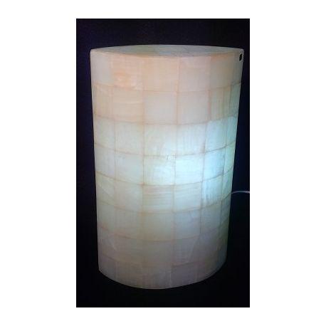 Luminaire de forme elliptique en Onyx Blanc 40 cm de haut