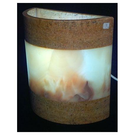 Luminaire Applique de forme cubique en onix 20 X 20 cm