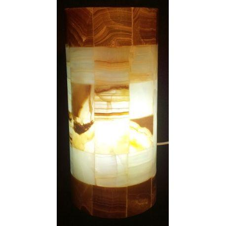 Applique en forme de canne à sucre en onyx 30 X 14 X 7.5 cm