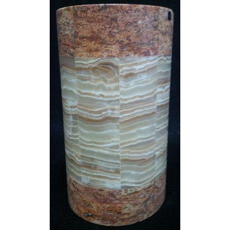Applique canne à sucre en Onyx or et brun 25 X 14 X 8 cm
