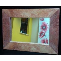 Miroir en marbre rouge 68 X 50 X 2.5 cm