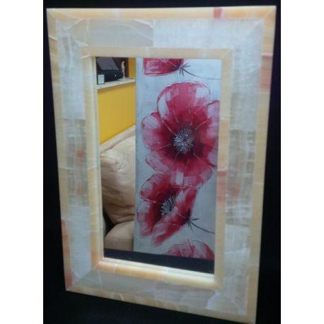 Miroir rectangulaire onix crème 65X45X3 cm
