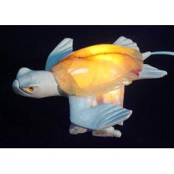 Luminaire en forme de Tortue onyx vert 16 X 16 X 10 cm