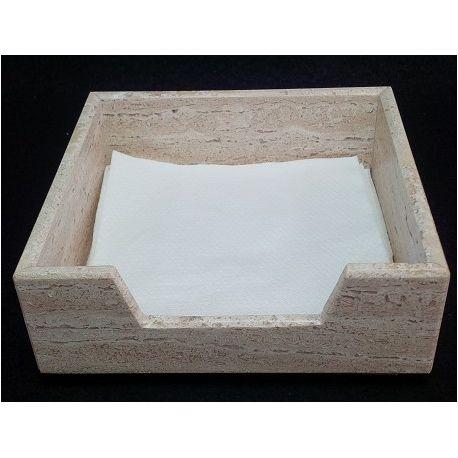Porte-Serviettes marbre carré 18X18 cm
