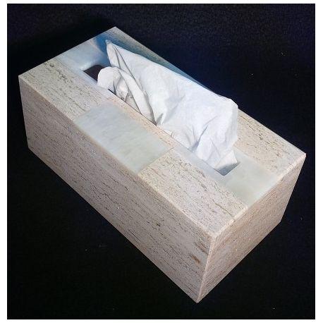Étuis boîte à Mouchoirs onyx et marbre 26 X 13 X 11 cm