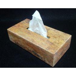 Étuis boîte à Mouchoirs onyx et marbre 26 X 13 X 7 cm