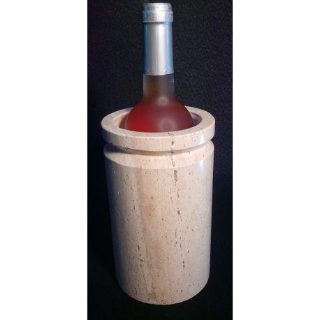 Présentoir bouteilles en marbre blanc 20 X 12 cm