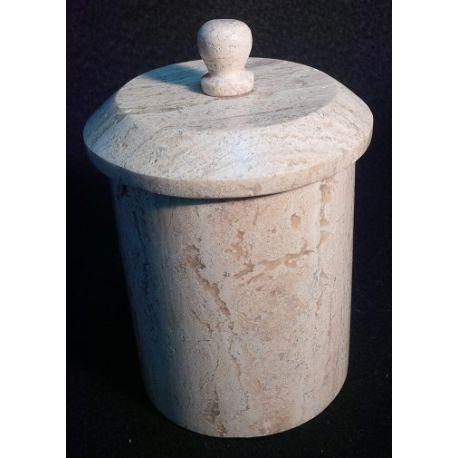 Boite à épices en marbre 16 X 13 cm