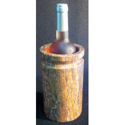 Présentoir bouteilles en marbre rouille 20 X 12 cm