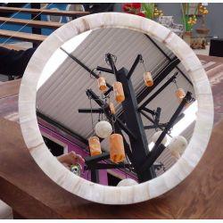 Miroir Rond Onyx Blanc