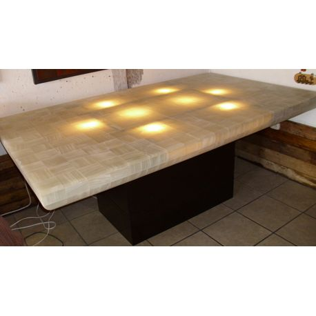 TABLE RECTANGULAIRE ONYX BLANC 250 KGS