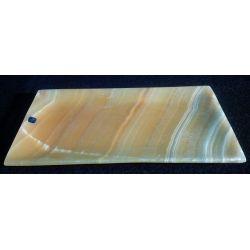 Plateau rectangulaire en Pierre d'onyx 15 X 25 cm