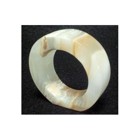 Ronde serviette en pierre d'onyx 6 cm de diamètre