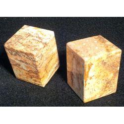 Salière et  poivrière en marbre zébré brun