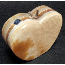 Grande pomme en pierre d'onyx brun 11 X 4 X 9 cm