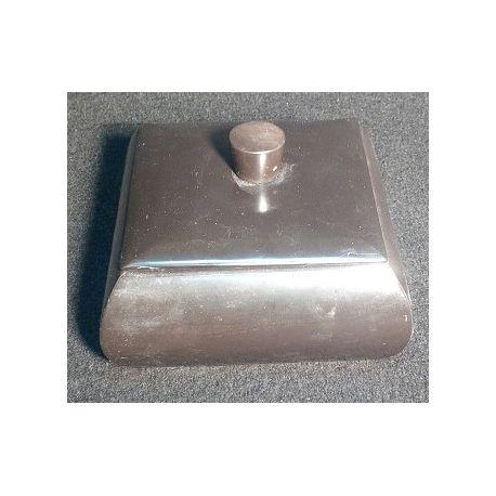 Grande boite à Bijoux marbre noir 15 X 15 X 10 cm