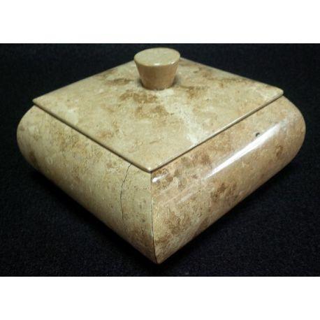 Grande boite à Bijoux marbre brun 15 X 15 X 10 cm