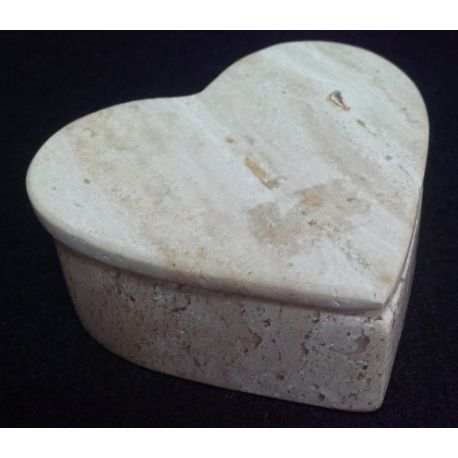 Boites à bijoux en forme de cœur en marbre 9 X 7  X 4 cm