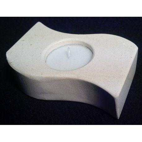 Chandelier forme de S en marbre blanc 10 X 5.5 X 3 cm