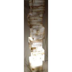 Luminaire Géant en Onyx Blanc  25 X 25 X 150 cm  45 Kg